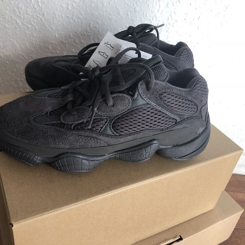 f11ed36ca6882 Adidas Yeezy Utility Black 500 Trainers Sneakers Size New In - Depop