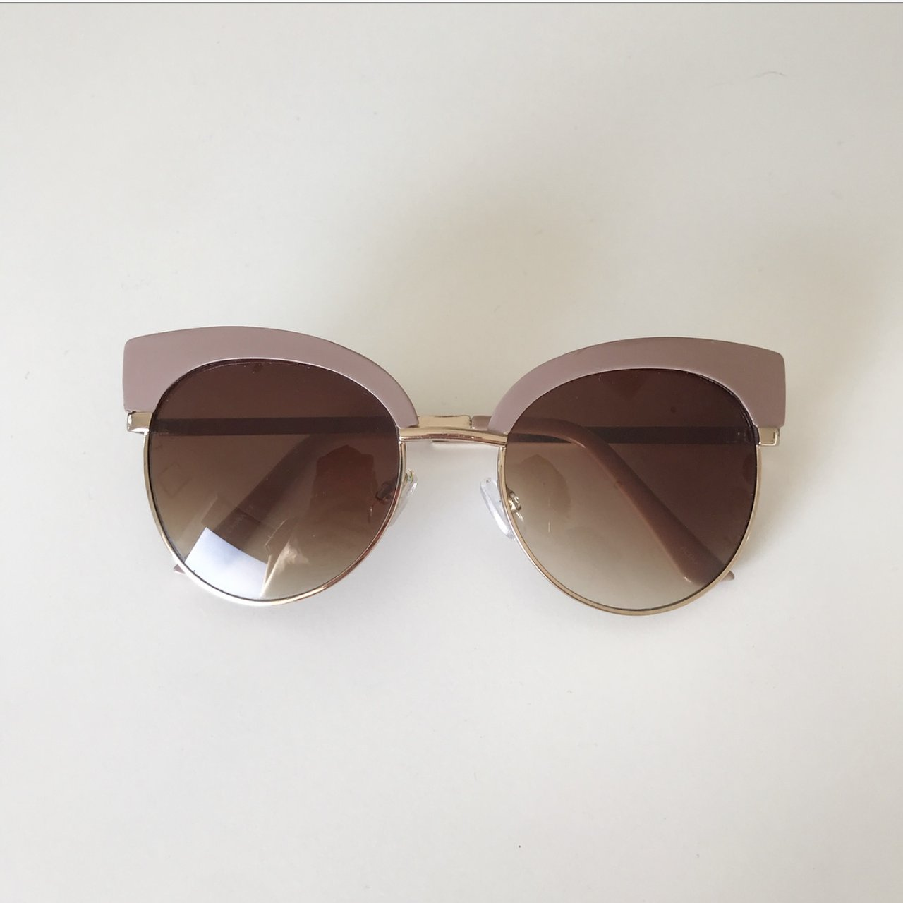 579659c355b Asos dusky pink round cat eye sunglasses - some light marks - Depop