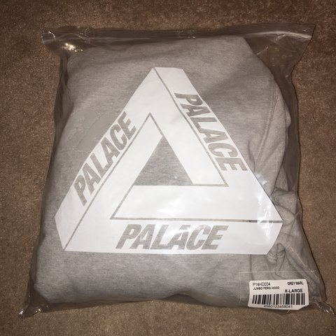b512ea2de5f6 Sold out Palace Jumbo Ferg Hood Grey Marl in size XL. Never - Depop