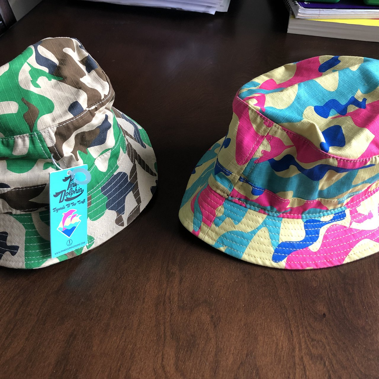 100% Authentic Pink Dolphin Bucket Hats bought Summer 2013   - Depop 982a4d315bf6