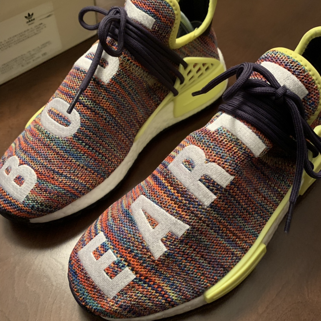 the latest 35444 44a31 Pharrell NMD HUMAN RACE MULTICOLOR Size 7.5 worn ...