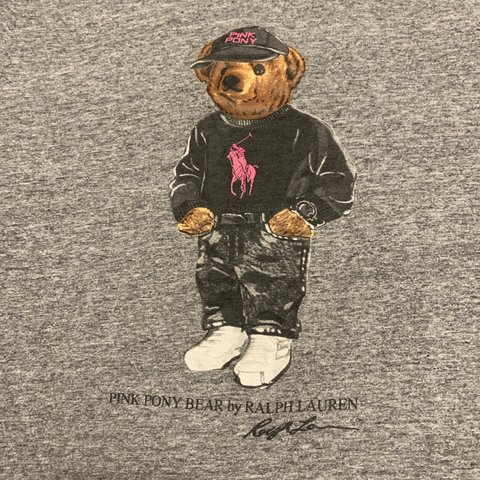 a4bf3cc9 @leilei8. 2 months ago. Miami, United States. Ralph Lauren pink pony bear  shirt. Size small. Worn a couple ...