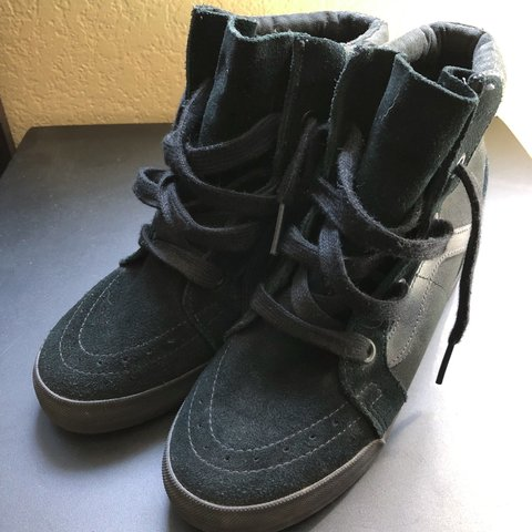 c2a1f58804 Vans wedge sneakers! Approximately 2.5 inches in height US - Depop