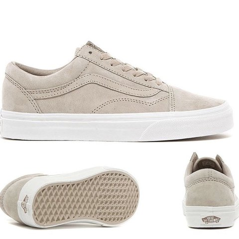 a849eb79a9 Nude suede old Sokol vans. Unisex - Size 6 Only worn a of - Depop