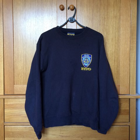 ad4f65208 NYPD Sweatshirt, Officially Licensed, Size Medium, Navy, - Depop