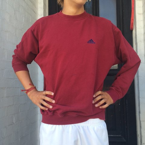 d562dc7f @mcook1. 3 years ago. London, UK. Rare Men's vintage / retro classic red  crewneck Adidas jumper ...