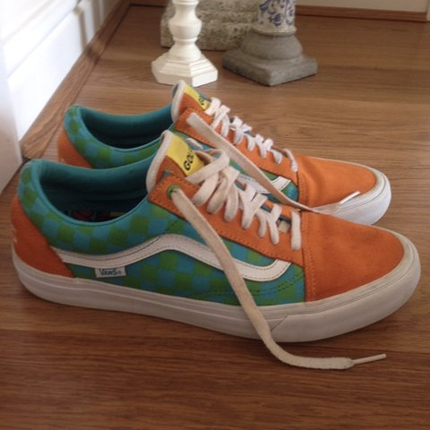 591865feb834 Odd Future Golf Wang Old Skool Checkered Vans in RARE    a - Depop