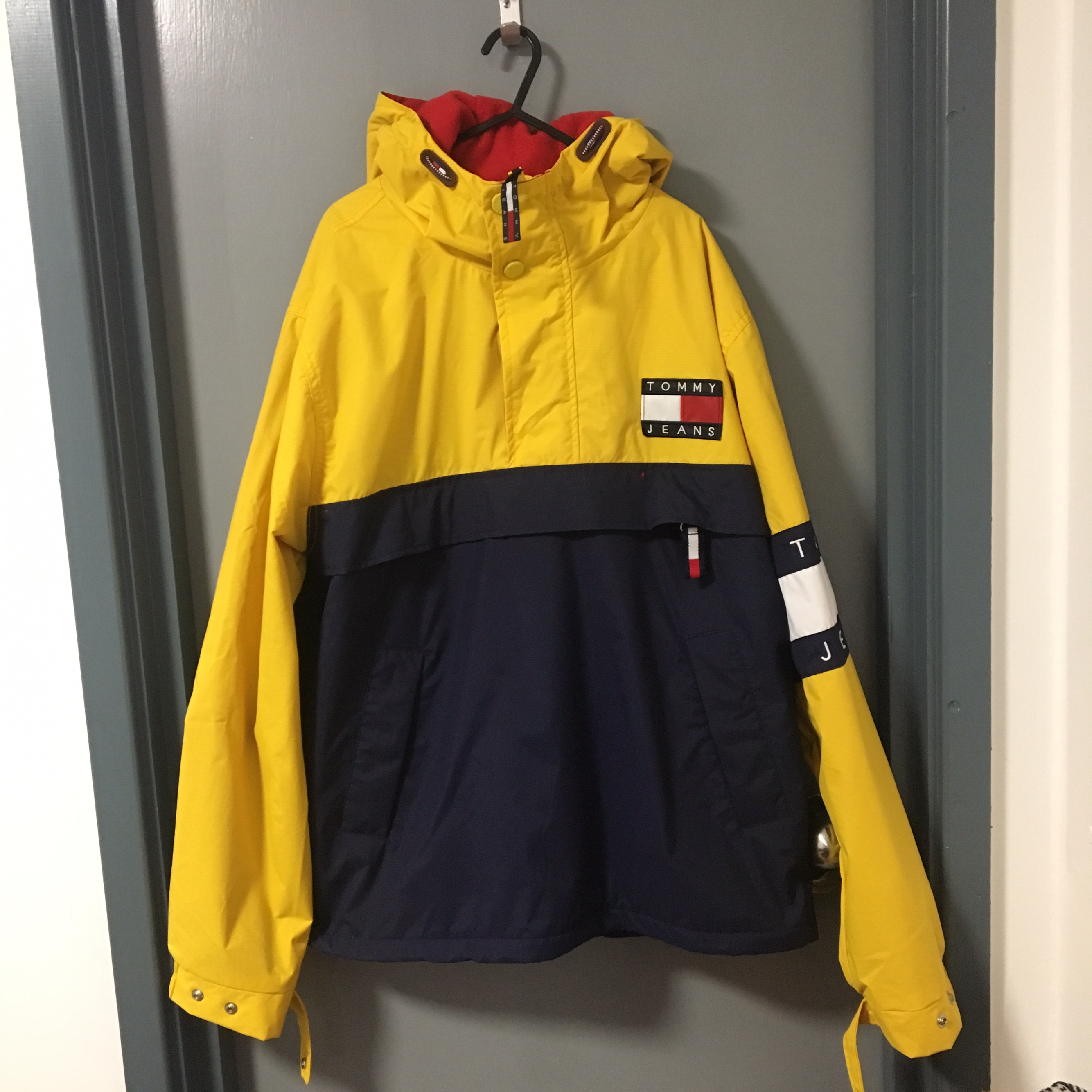 Tommy Hilfiger 14 Zip Blue Yellow Pullover Jacket