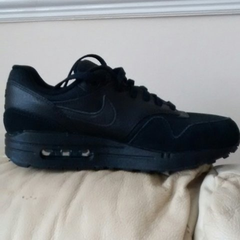 c822ae3bab20 Nike Air Max 1 Triple Black. Size 5.5. Ex display no box - Depop