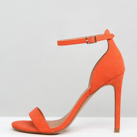 5c7a2dcee @chloereedforrester. 11 months ago. London, UK. ASOS Orange Coral Strappy  Heels Worn Once - All Shoes ...