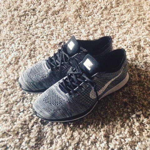 6bc49a1c28b0 Mens Flyknit Racer Oreo 2.0 Size 8.5 UK. Perfect condition a - Depop
