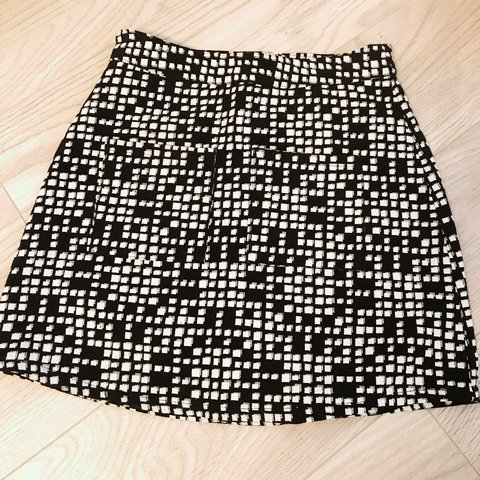 a3c4717c07 @lucy____. last year. Nottinghamshire, UK. New look black and white check print  mini skirt ...