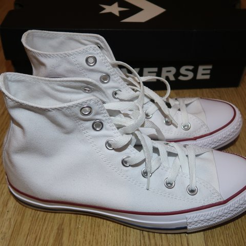 477ce29066 NO TIME WASTING! White CONVERSE trainers. £50 (open to and - Depop
