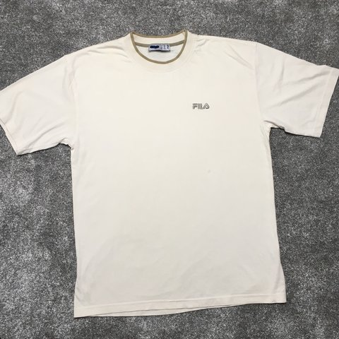 bd6ef51c7fdc Vintage Fila Tee Shirt In Perfect Condition Men s Medium - Depop