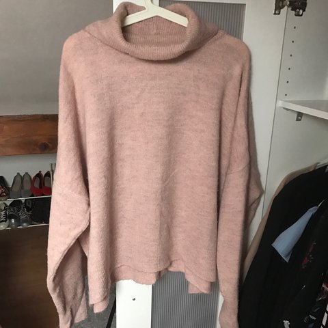 ea29011f1cd7f6 @freybella. 2 years ago. Stockport, United Kingdom. Topshop baby pink roll  neck jumper. Nice thick knit ...