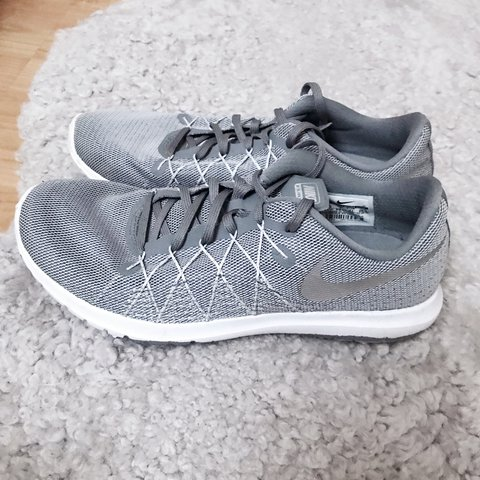 855527357d3 Nike flex fury 2 trainers in grey textile. Perfect as a as 3 - Depop