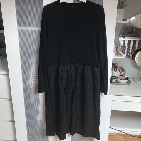 6782bf76aa1c2 @freybella. 9 months ago. Stockport, United Kingdom. COS - black midi dress  - 100% wool knitted top half - 70% ...