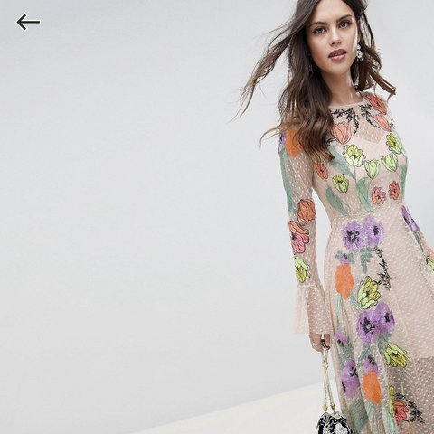 169c6d39799  wolfandi. 2 months ago. United Kingdom. ASOS embroidered floral maxi dress.