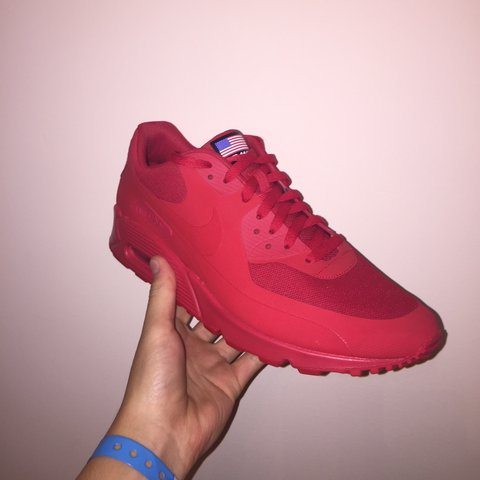 the latest aa22a e6933  hypebeatshoe. 4 years ago. Nike air max 90 Independence Day red ...