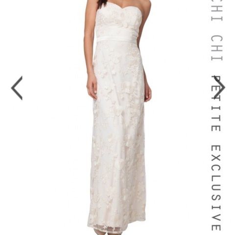 23f96759799 Chi Chi London cream lace maxi dress with front side split. - Depop