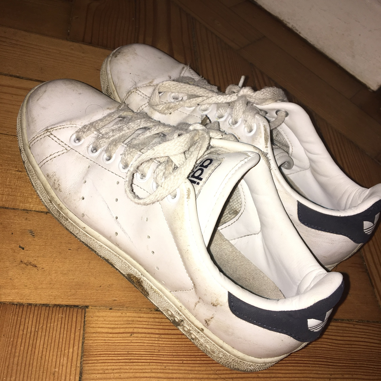 save off 8e586 5940c Vintage Adidas Stan smith/ old and quite dirty but... - Depop
