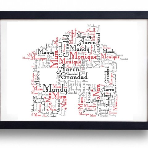 New home personalised word art prints a4 sized any 6 1p depop gumiabroncs Images