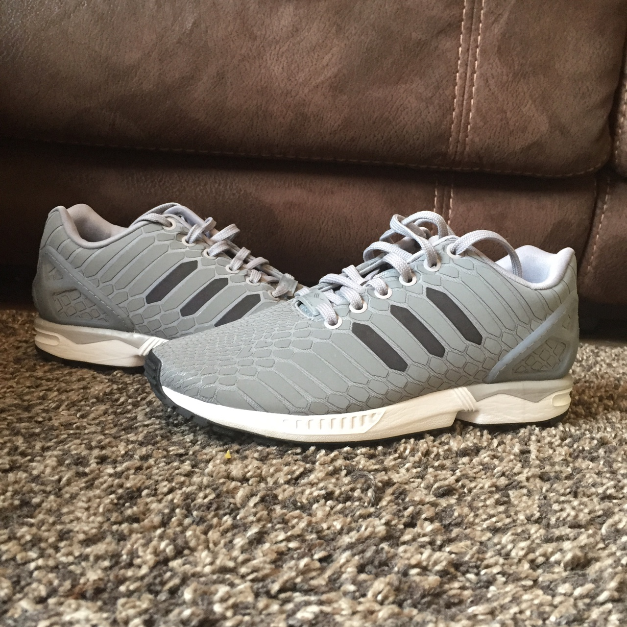 online store 4409d c6c62 Adidas ZX Flux Reflective Silver. Bought For £90.... - Depop