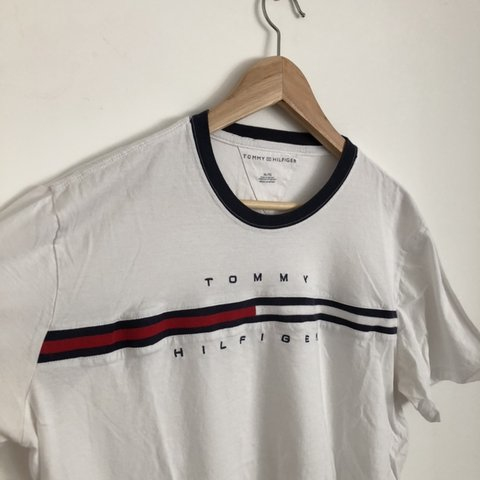 80d46883 @maxlang4. last month. Cambridge, United Kingdom. Tommy Hilfiger t shirt •  White with classic ...