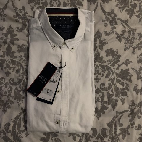 e4bb1b1f @halloweenqueen. 3 months ago. Norwich, United Kingdom. Zara man sim fit  white shirt. Still with tags / unworn