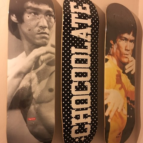 Tcslh 19 Days Ago London United Kingdom Supreme Chocoolate Bait Bruce Lee Skateboard