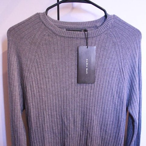 dd8092a9 Zara Men's sweater. New with tags. USA M. Made in Romania. - Depop