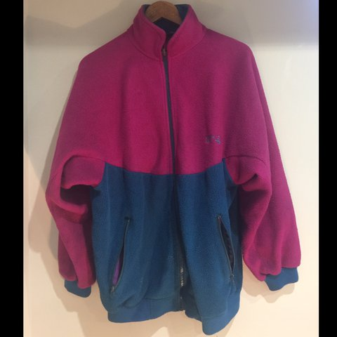 fa7d4fec5a North Cape Fleece, Pink/Blue, S/M #vintage #fleece... - Depop