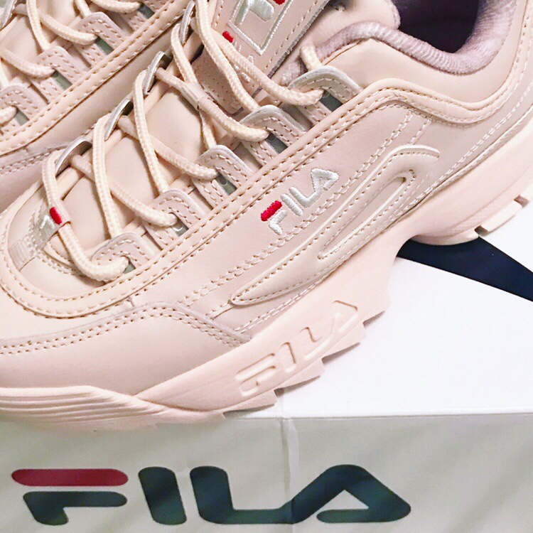 Nude baby pink Fila Disruptor trainers