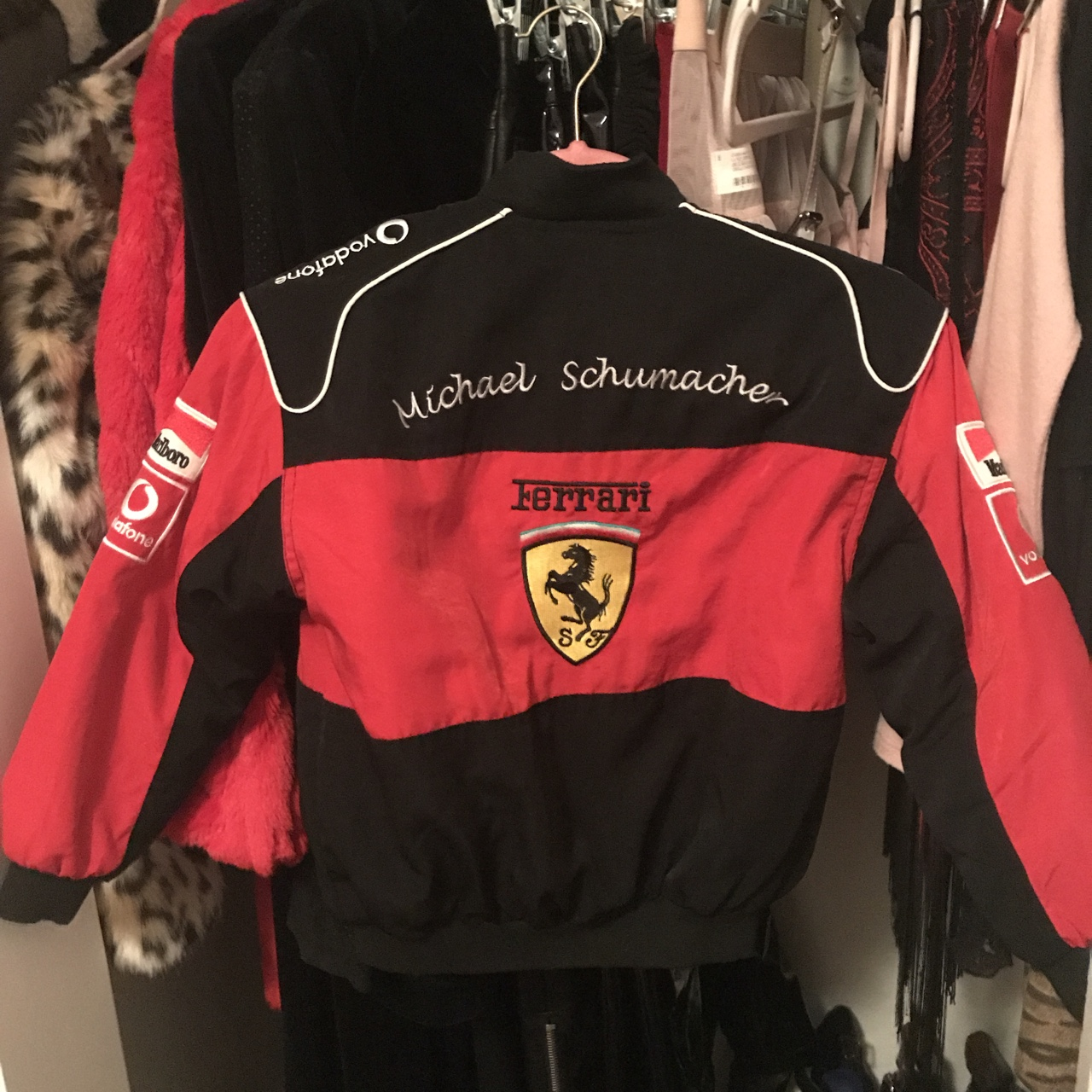 Ferrari NASCAR jacket! Boys size L, fits cropped on , Depop