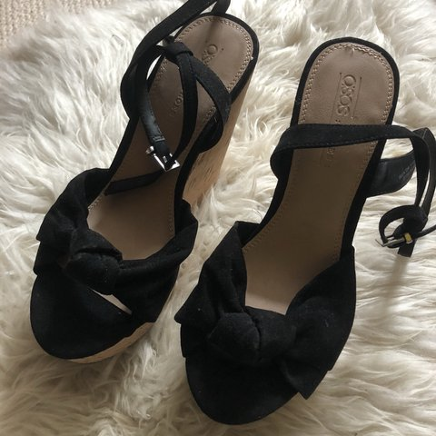 bfcf9a66cf7 Brand new ASOS cork wedge and black sandal holiday wedges 5 - Depop
