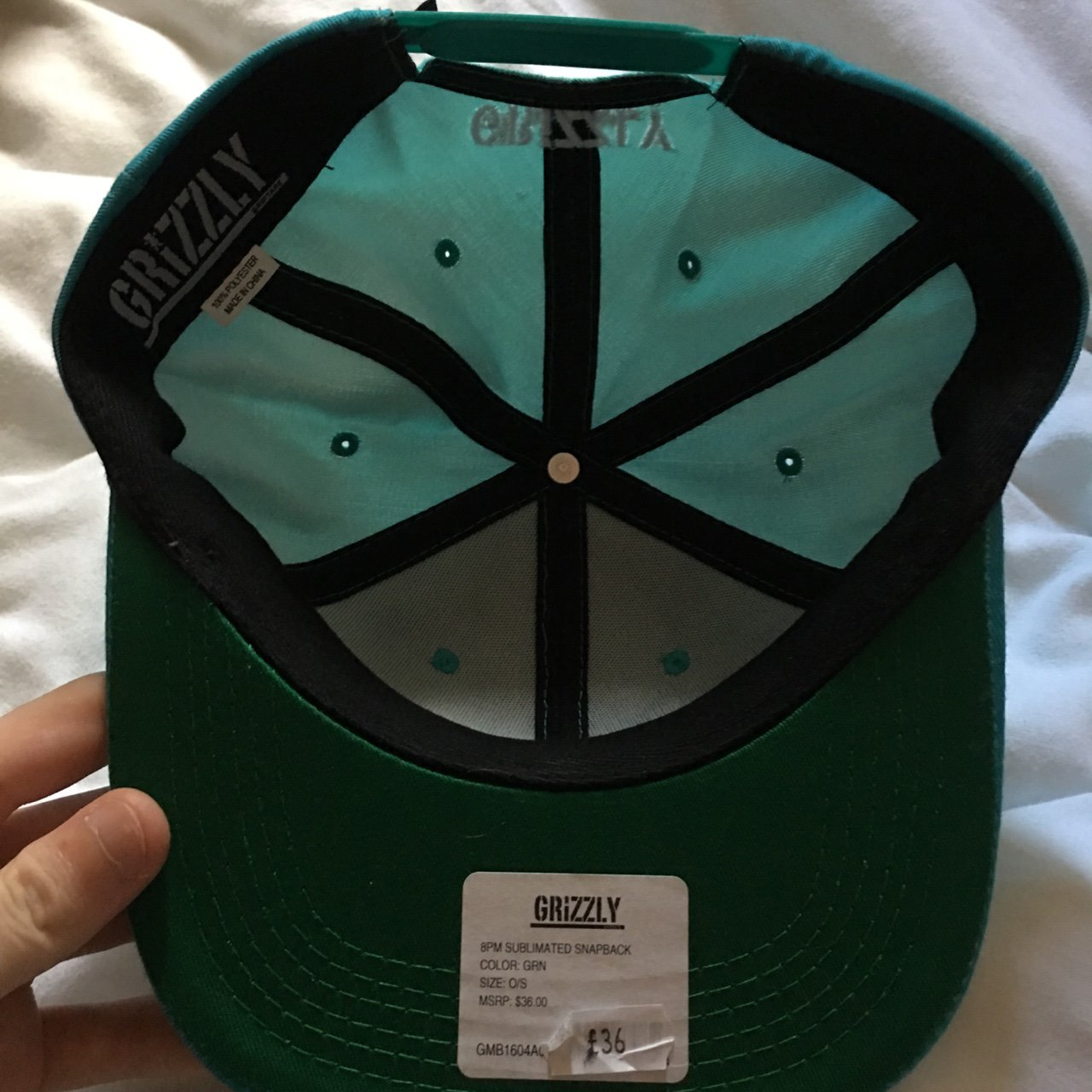 8ca7ccb16fd Grizzly griptape snapback in turquoise 🐻 amazing condition