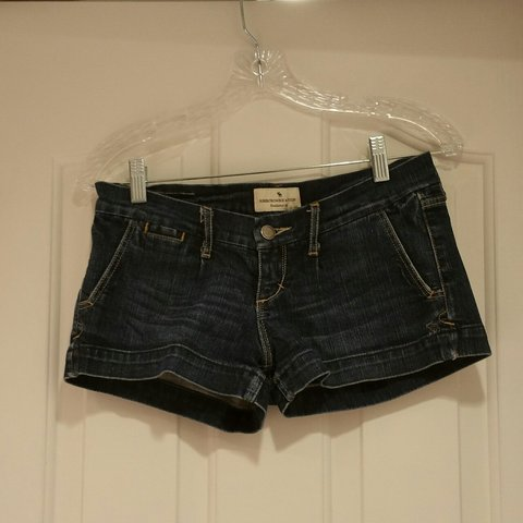 581cf8672a Late 90s Abercrombie low-rise dark denim shorts. These are 0 - Depop