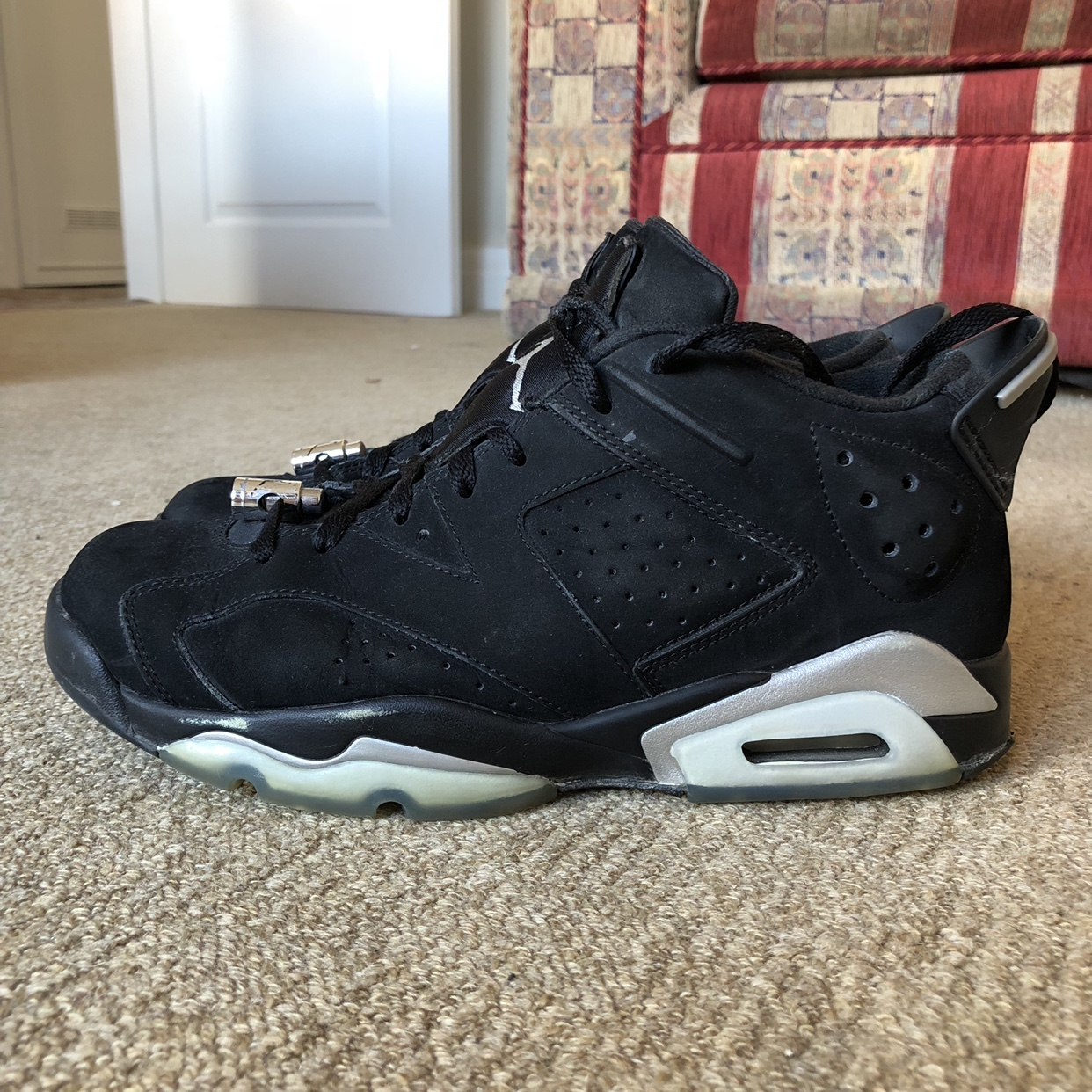 new arrival 8d02c 6fe0d Air Jordan 6 Retro Low Chrome - Depop