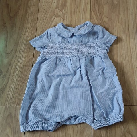 c09c39592492 Baby Boy traditional romper new born blue Casper Lauren Zara - Depop