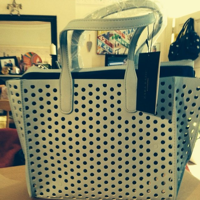 833bc26f Never used , still with labels. Perforated mini shopper from - Depop