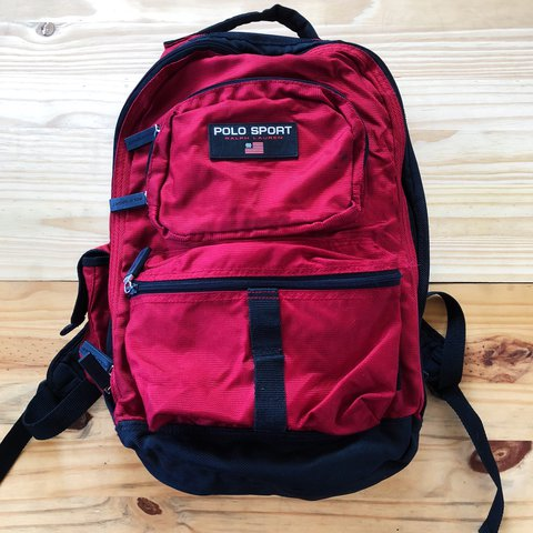 5c93887a46ad 🎒Vintage 90s Red Polo Sport Ralph Lauren Backpack