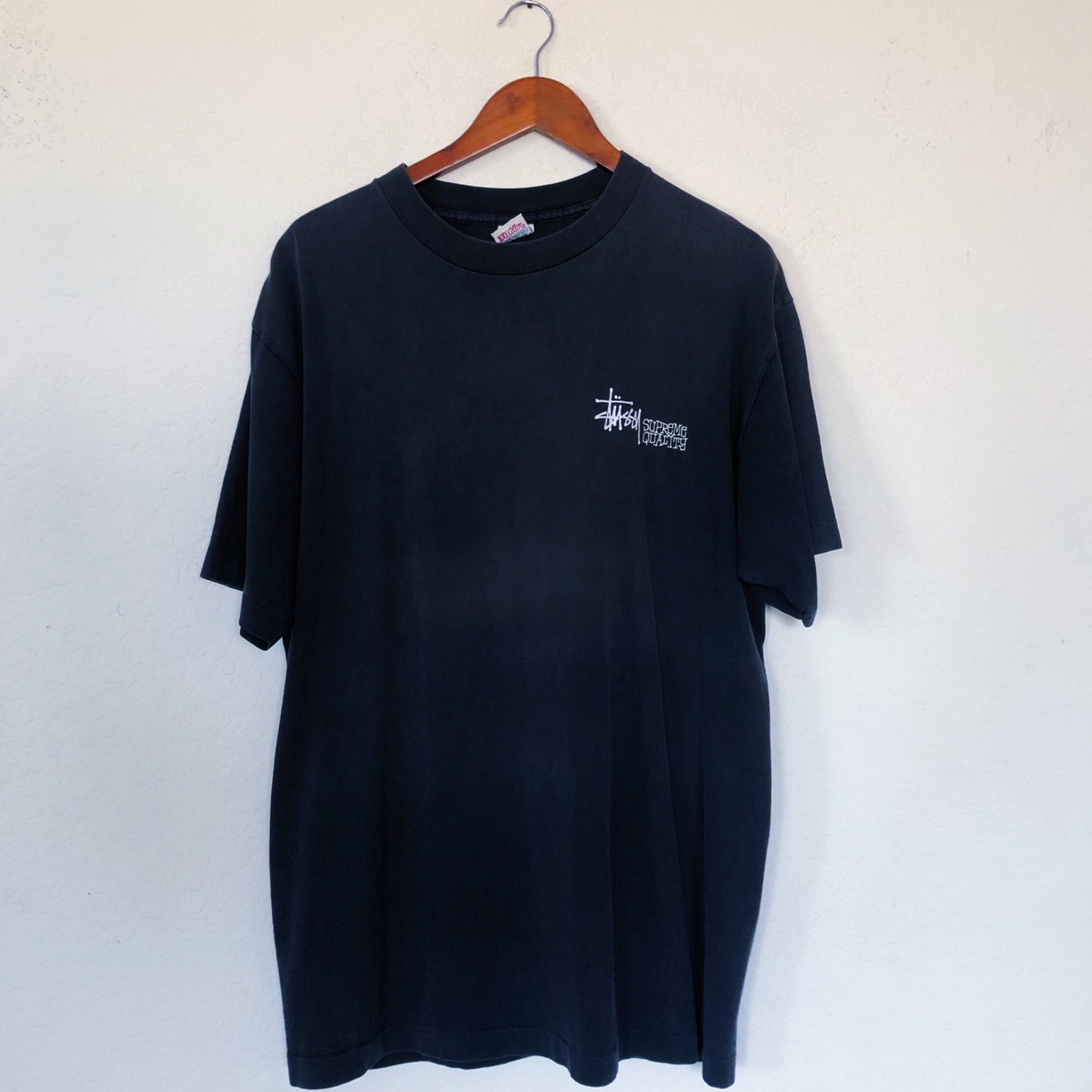 "cc645bcc944a us_. Long Beach, United States. //Vintage 90s Stussy ""Supreme Quality"" T- Shirt ..."