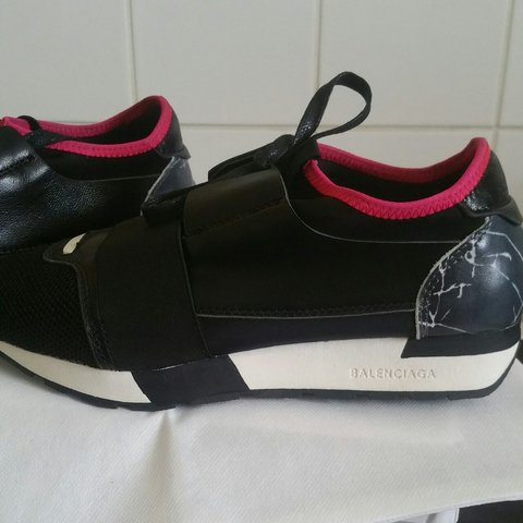 ac42ee9e497b Size 5 black and pink Balenciaga runners.😍 Brand new never - Depop