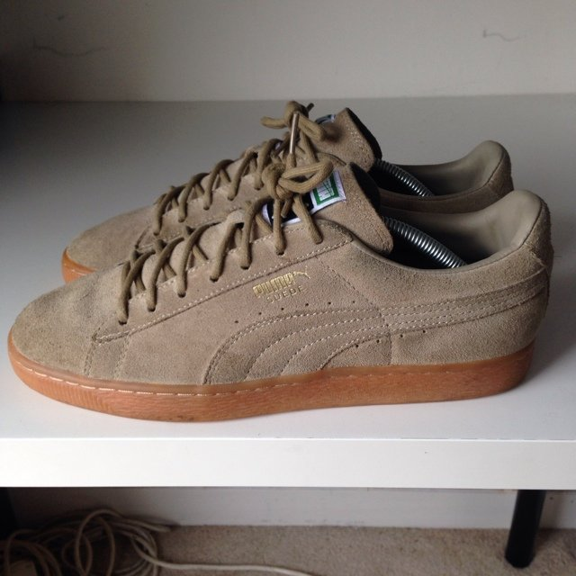 puma suede beige orange
