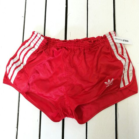 69faab92fc @cultvintage. 2 years ago. Hereford, United Kingdom. AMAZING VINTAGE RETRO  80s ADIDAS SPORTS SHORTS
