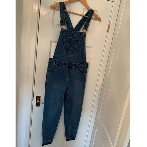 e0f48522a9 New Look denim skinny leg dungarees Good condition as only - Depop