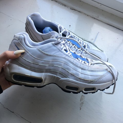 d3ffac5098 ... new zealand nike air max 95. white sky blue detailing a rare pair all  depop