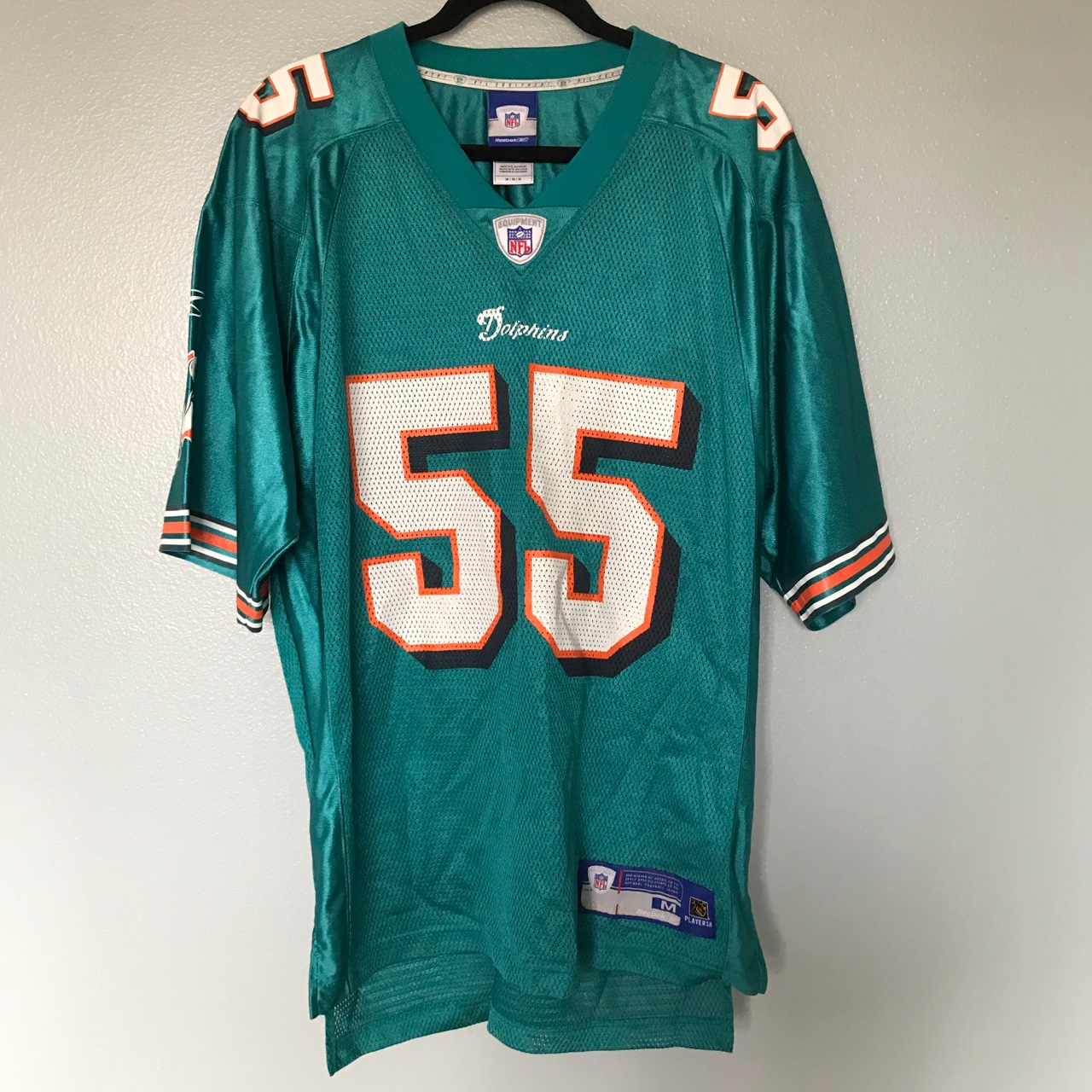 huge selection of fbe2f ac0a1 Authentic Miami Dolphins Jersey Size medium No rips... - Depop