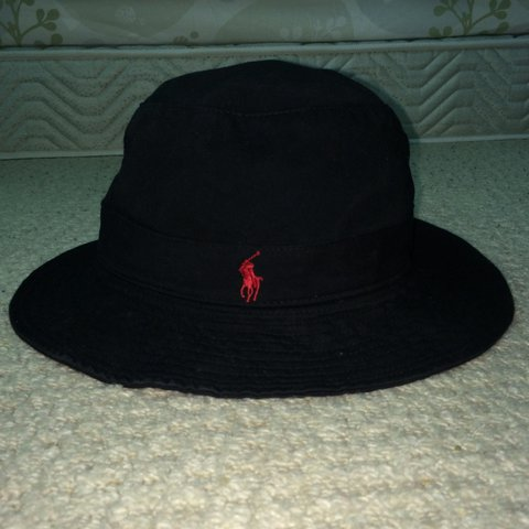 6db3b15f60c3f Vintage Black Ralph Lauren Bucket Hat Great condition - a - Depop
