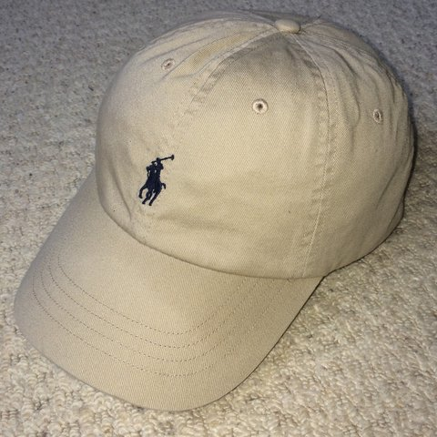 85ce9f4ee2d59 Vintage Beige Ralph Lauren Cap As worn by Yung Lean in  Ski - Depop